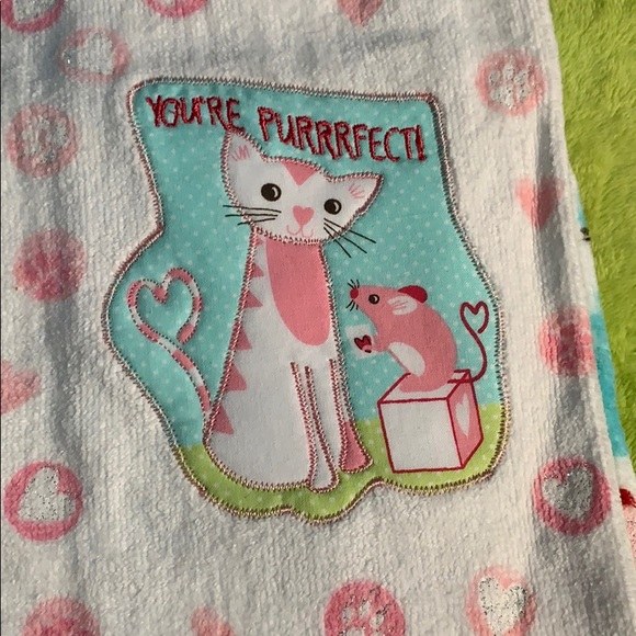 Valentine's Day Towels Cats Mice Purrfect